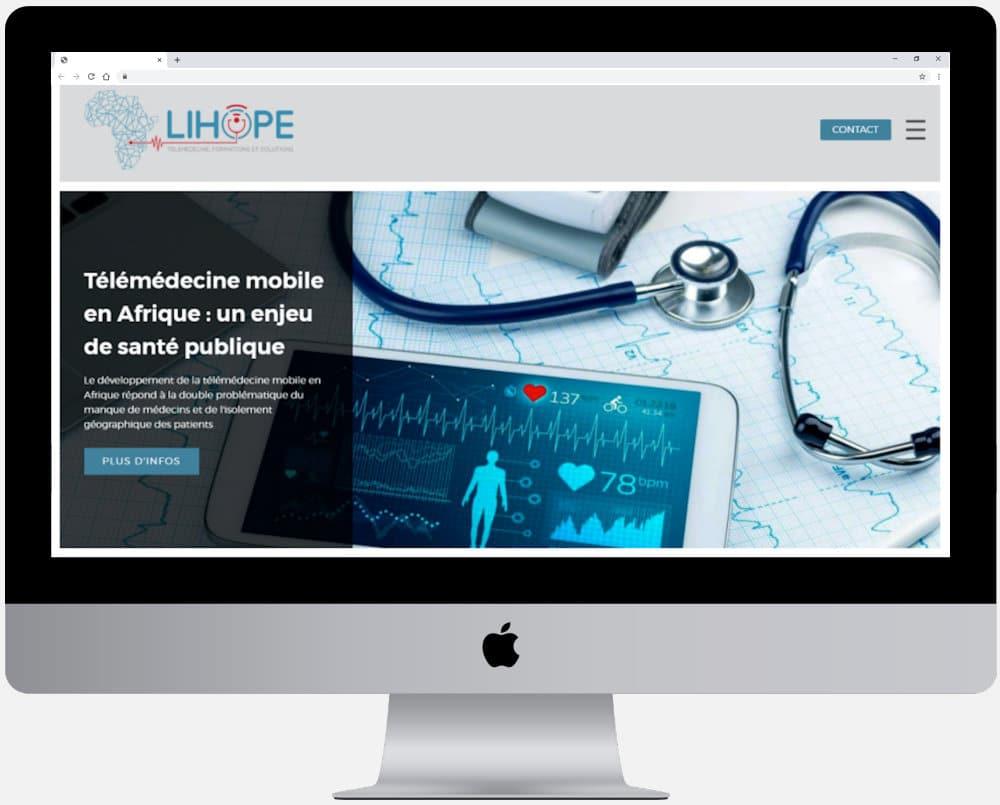 Page d'accueil du site internet de Lihope