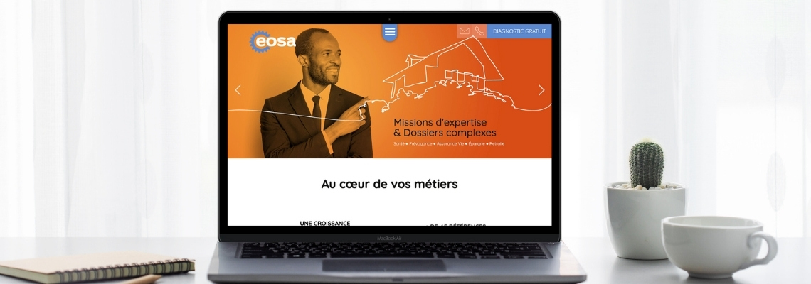 Faire vivre les valeurs d'Eosa à travers la refonte de leur site internet