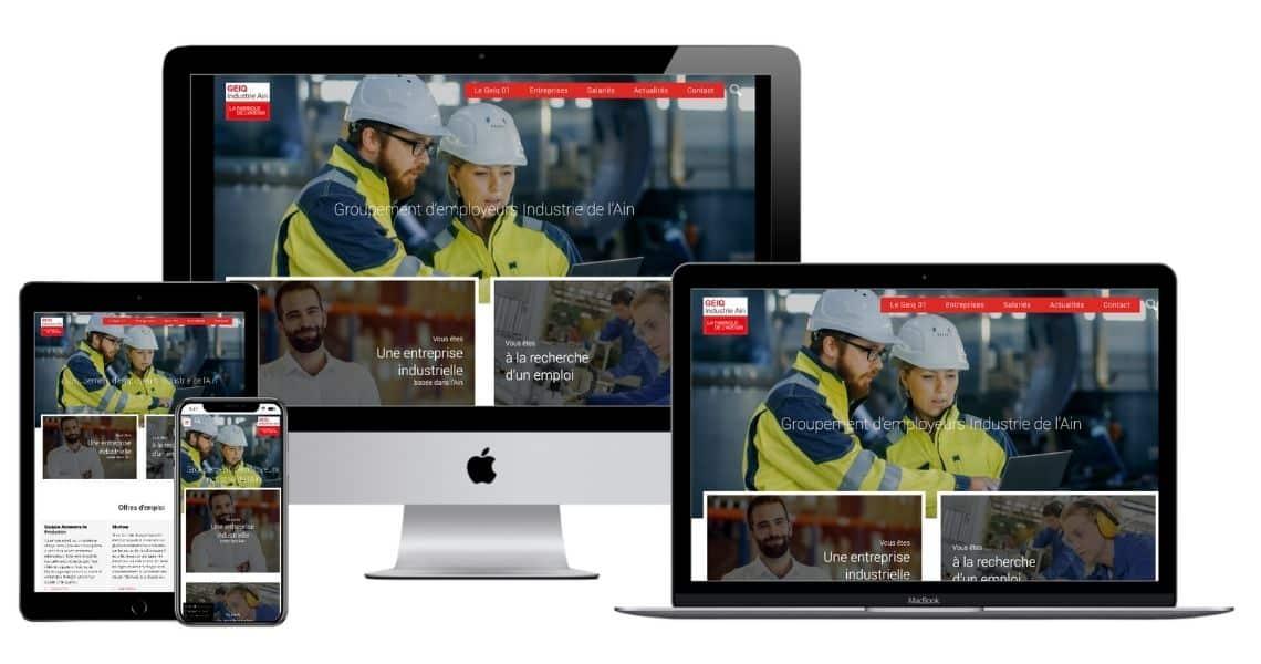 Création du site internet Geiq Industrie de l'Ain