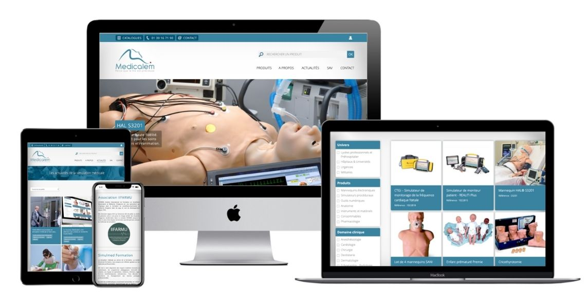 Redesign of the Medicalem.com website, specialist in medical simulation